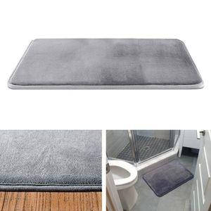 Speicher Schaum Bad Matte Nicht Absorbent Super Gemütliche Samt Bad Teppich 2 40x60cm Badematte gestreift Grau 40x60cm