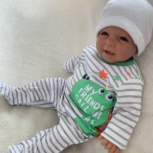 Baby Jungen Strampler Schlafanzug Einteiler Gr. 56 Dino