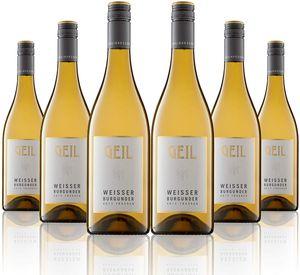 6 Flaschen Johann Geil | Weisser Burgunder trocken | 2019 | Deutscher Wein | Qualitätswein | Oekonomierat Johann Geil Erben | Reihnhessen | Nr. 1915