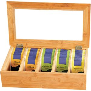 KesperTeebox mit 5 Fächern Bambus, 58900