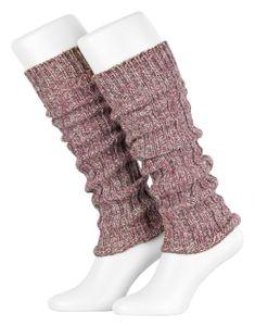 Tobeni 1 Paar Damen-Stulpen Wolle Kuschelig Weich Multicolour Beinwärmer für Frauen Ideal für Sport und Winter, Farbe:Multicolour - Rose, Grösse:One Size