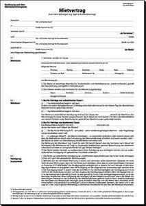 sigel Vordruck ŽMietvertragŽ, A4, 6-seitig, Menge: 25 (Neu)