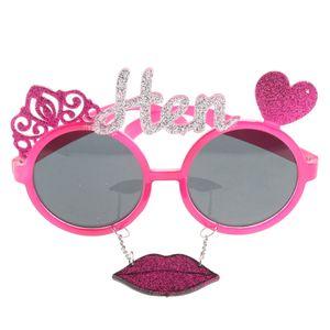 1 Stück Neuheit Sonnenbrille Farbe Rosa