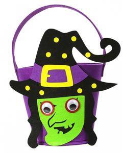 """Halloween Körbchen aus Filz """";Hexe"""";"""