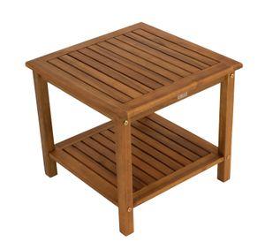 DEGAMO Beistelltisch Gartentisch Holztisch ST. VINCENT 50x50x45cm, Akazie Holz geölt