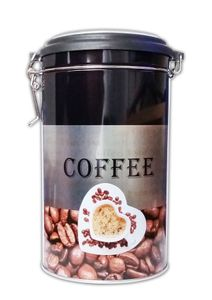 KAFFEEDOSE luftdicht Metall 19cm Bügelverschluss Dose Kaffee Vorratsdose Aromadose Blechdose 25