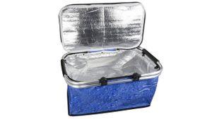 Einkaufen mit wiederverwendbarem Kühlkorb