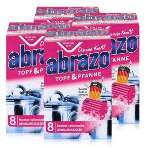 abrazo Topf & Pfanne Reinigungskissen - Die rosa Kraft (4er Pack)