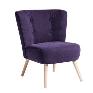 Max Winzer Neele Sessel - Farbe: violett - Maße: 69 cm x 68 cm x 80 cm; 2693-1100-2051798-F01