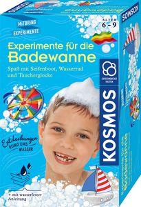 Kosmos Experimente für die Badewanne Spaß mit Seifenboot, Wasserrad und Taucherglocke
