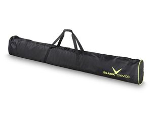 BLACK CREVICE - Skitasche | Skibag | Skisack - 1 Paar Skier - Farbe: Schwarz/Gelb - Länge: 190 cm