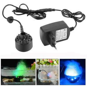 Ultraschall Luftbefeuchter Zerstäuber Nebelmacher mit 12 LED für Wasserbrunnen Teich Aquarium Atmosphäre Schaffen