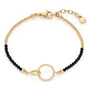 LEONARDO 18951, Armband, Schwarz, Gold, Edelstahl, Damit Sie an Ihrem Schmuck lange Freude haben, sollten Sie folgende Regeln beachten: Vermeiden Sie..., Mädchen, 170 mm