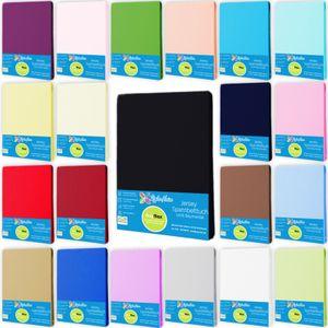 Spannbettlaken JerseySpannbetttuch 100% Baumwolle Größe 200x200 cm Farbe Schwarz
