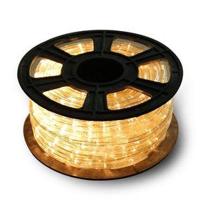 VINGO 10m LED Lichtschlauch 240 LEDs Lichterschlauch Wasserfest Lichterkette Strombetrieben mit 8 Modi fuer Innen Aussen Party Hochzeit Deko Warmweiss Leuchtschlauch