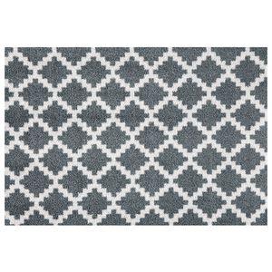 Waschbare Fußmatte Elegance Grau Anthrazit, Größe:50x70 cm