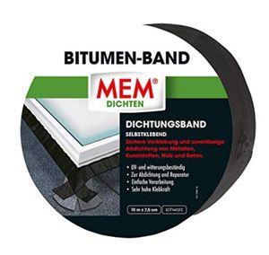 MEM 30836607 Bitumen-Band schwarz 10 m x 7,5 cm
