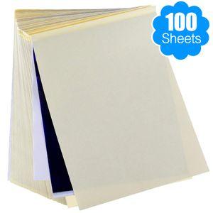 Tattoo-Transferpapier 100 Blatt Tattoo-Schablonenpapier Thermoschablonenpapier für A4-Format