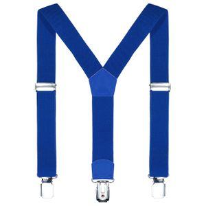 DonDon Kinder Hosenträger blau 2 cm schmal längenverstellbar für eine Körpergröße von 80 cm bis 110 cm bzw. 1 - 5 Jahre