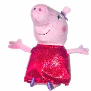 Auswahl Plüsch-Figuren 30 cm | Peppa Wutz | Peppa Pig | Softwool | Stofftiere, Figur:Peppa im roten Kleid