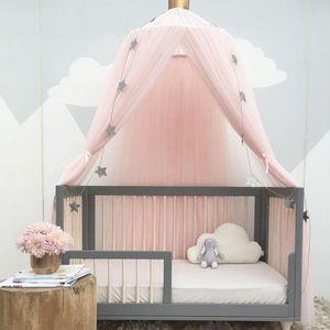 Rosa Betthimmel Baldachin für Mädchen und Jungen ,Deko Kinder Kinderzimmer Bett Moskitonetz aus Tüll,60 x 240 cm