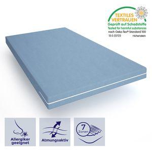 Matratze 140x190 - hochwertige Schaummatratze mit optimaler Körperanpassung -  Zertifikat