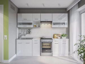KÜCHE ALINA 260 WeißLACKIERT KÜCHENZEILE Küchenblock Einbauküche Komplettküche
