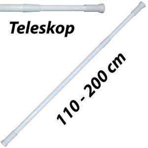 Duschstange Teleskop 110-200 cm Dusch Vorhang Stange Klemm Ausziehbar Ohne Bohren