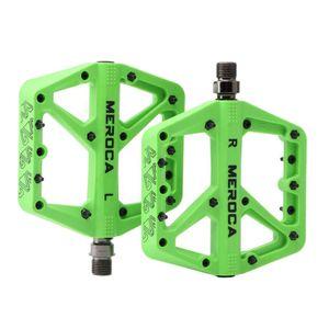 "3 lager Mountainbike Pedale Plattform Fahrrad Flache Pedale 9/16 \""Pedale Nicht-Slip Legierung Flache Pedale, durable & Leichte Farbe Grün"