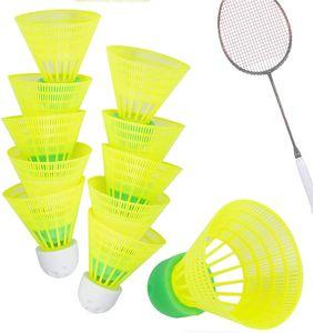 10X Speedbadminton Federbälle schnell gelb Badmintonbälle für Training & Wettkampf Badminton - Feder Ball/Bälle Federball für Outdoor & Indoor