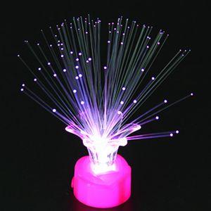 LED Fiber Optic Nachtlichtlampe Buntes Home Party Nachbildung Kind Kinder Spielzeug Geschenk