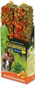 JR Grainless Farmys Karotte-Bockshornklee für Nager und Zwergkaninchen