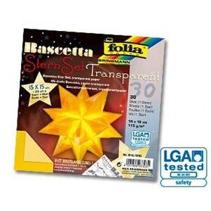 Folia Bascetta Stern Weihnachtsstern 3D Origamistern Faltblätter Bastelset, Farbe:Gelb; Größe:150x150mm