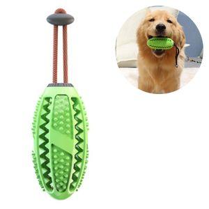 Hund Zahnbürsten Stick Ball Hundespielzeug Ball Leckerli-Spender für Hunde Welpen-Zahnpflege, Bürsten und Kauspielzeug, ungiftiges Naturkautschuk