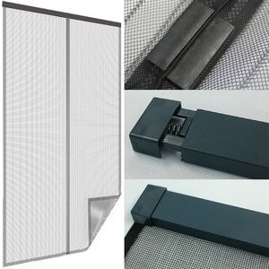 Insektenschutz Klemmvorhang Magic Magnetic 80-100 x 210-220 cm anthrazit