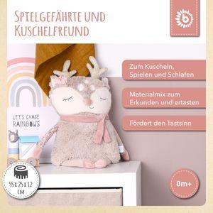 Bieco Plüsch Reh Spieltier Baby   ca. 55 cm   niedliches Baby Kuscheltier   Baby Spielzeug   Kuscheltier Baby   Baby Einschlafhilfe   Kuscheltiere für Babys   Stofftier Baby   Kuscheltier Pferd