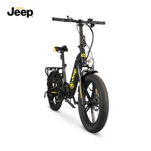 "Jeep Fold E-Bike FR 7000, 20"" Kompaktrad, Falt-E-Bike, 7-Gang Kettenschaltung, black"