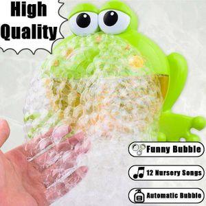 Kind Baby Bubble Badewanne Frosch Automatische Dusche Bad Musik Spielzeug