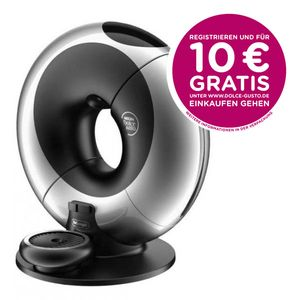DeLonghi EDG 736.S Dolce Gusto Dolce Gusto Eclipse Kapselmaschine Brushed Platinium Silver Silber