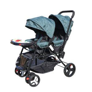 Geschwisterwagen Zwillingskinderwagen Doppelkinderwagen Kinderwagen Zusammenklappbarer Zwilling Falten Baby Buggy