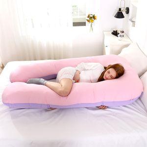U-Form Seitenschläferkissen Weiches Mutterschaftskissen Schwangerschaftskissen Purple and Pink