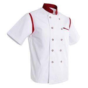 Atmungsaktive Kochjacke Bäckerjacke Kurzarm Kochkleidung Koch Arbeitskleidung Größe L