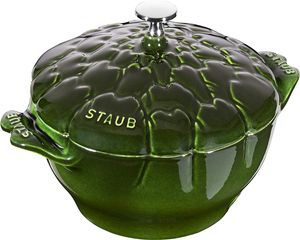 Staub Cocotte Artischocke basilikumgrün 22cm