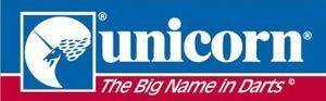 fensteraufkleber UnicornLogo 30 x 8 cm weiß/rot/blau