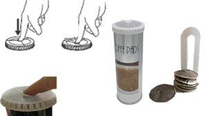 Aufbewahrung kaffeepads - Kaffeepaddose hält die Pads länger frisch - Pad Dose für Senseo Pads - Vorratsdose für Kaffeepads - Plus Padheber