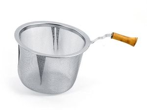 Tee Sieb mit Bambusgriff Edelstahl Ø ca. 7,2 cm