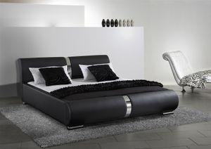 Polsterbett Bett Doppelbett Tagesbett DAKAR 180x200 cm Schwarz