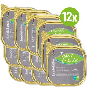 Hypoallergen Insect & Lecker 12 x 200 g besonders fettarmes und verträgliches Hauptfutter für sensitive Hunde geeignet Nassfutter Hundefutter