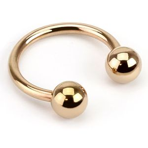 Piercing Ring Hufeisen Augenbrauen Lippen Ohr Nasen Intim Piercing Circular Barbell rosegold 1,6 mm 8 mm