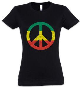 Urban Backwoods Rastafari Peace Sign Damen T-Shirt, Größe:S